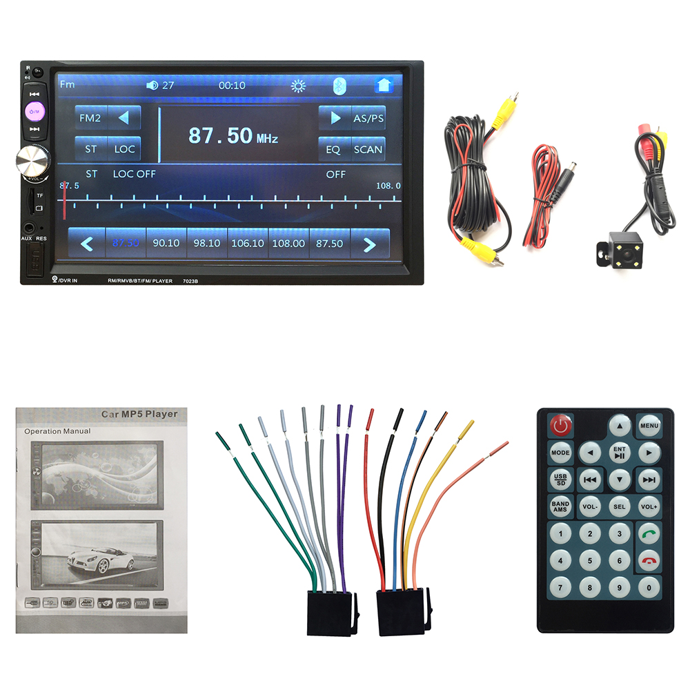 Free shipping 2DIN Car DVD / MP3 / mp5 / usb / sd / player Bluetooth Handsfree Touch screen hd system(China (Mainland))