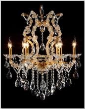 Glass chandeliers crystal Meerosee maria theresa chandelier Gold Cristal Lustres Pendentes 6 Lights MDS06 ready stock(China (Mainland))