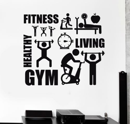 Wall stickers wall decal sport motivation fitness gym wall mural wall