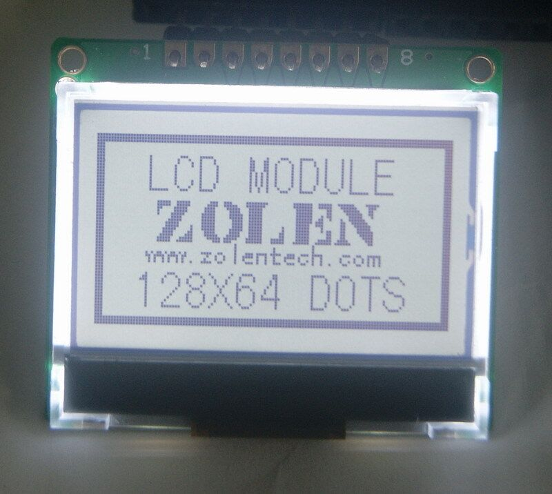 Free shipping serial 12864 LCD 128X64 COG LCD module 12864 LCD LCM ST7565P(China (Mainland))