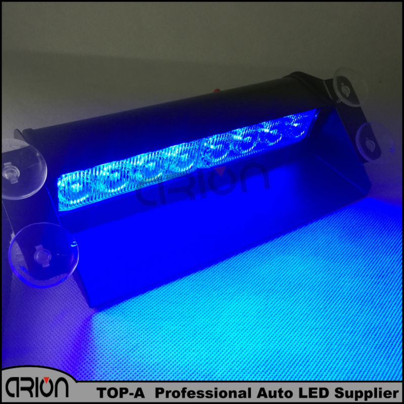 Blue 8 LED High Power Strobe Flash Warning EMS Police Car Light Flashing Firemen Fog Lights 8LED - Arion Auto-Fashion Flagship Store store