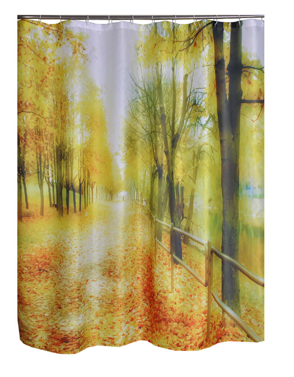 Boulevard Road Printed Bathroom Curtain Polyester Fabric Waterproof Shower Curtains Washable