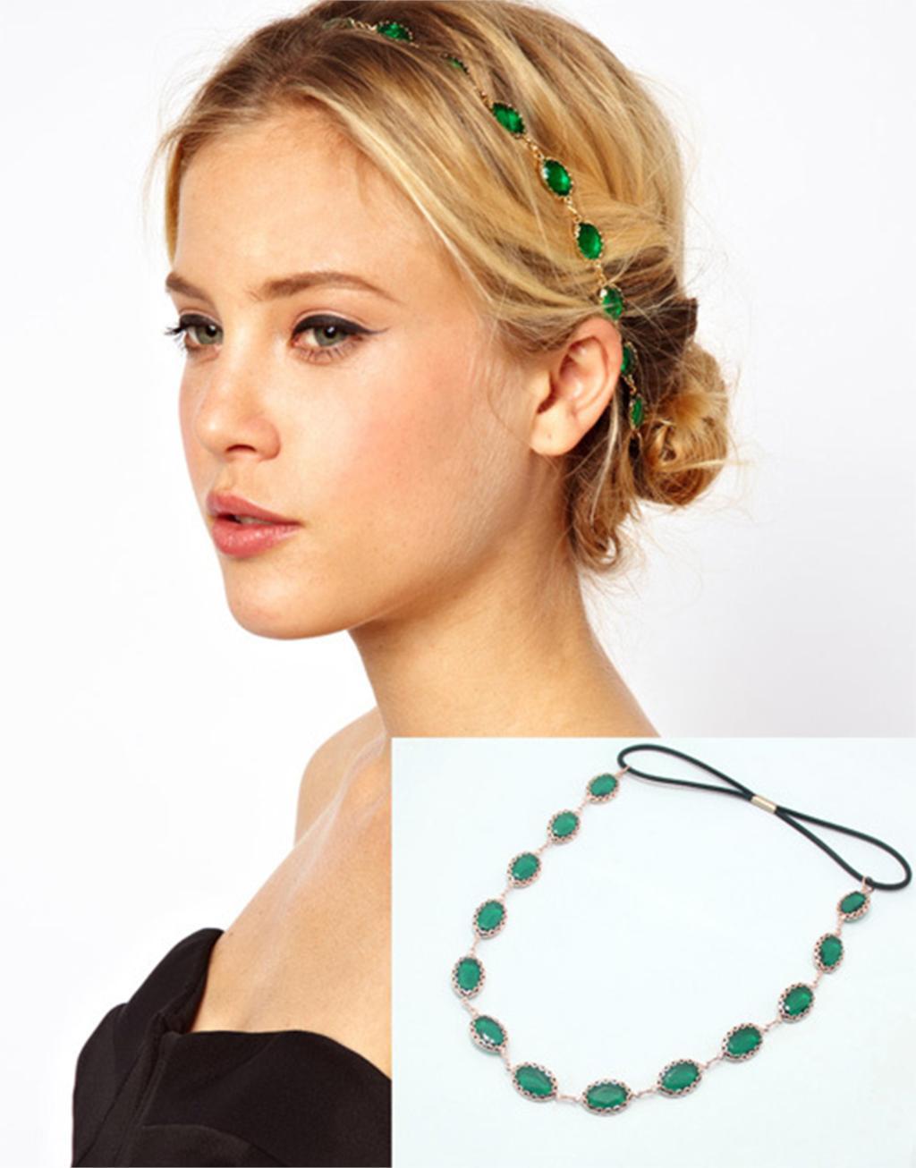 cheap-fine Fashion Oval Acrylic Fashion Lady Hair Band Headband New 2015 Women Hair Accessories(China (Mainland))