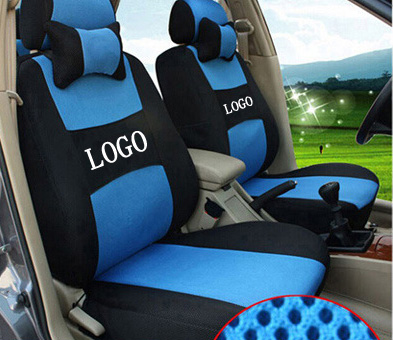 Free shipping embroidery car logo car seat cover front for Housse siege peugeot 307