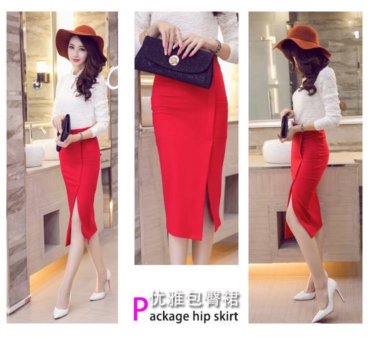 Autumn Womens Elegant OL Office Work pencil skirt High Waist Long Skirts Top Quality Sexy slim Hip Maxi Skirt Plus Size S-5XL