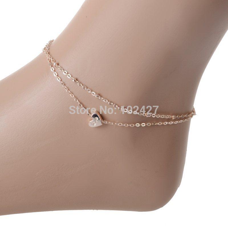 1pcs new fashion foot jewelry gold chain