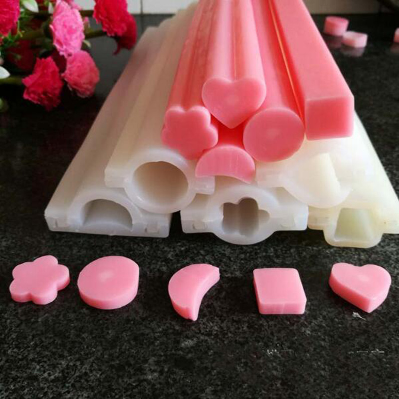 6 kinds Long silicone tube mold Small Size heart Shaped Silicone Tube Soap Mold pipe Moulds China Wholesale(China (Mainland))