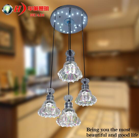4 restaurants chandelier pendant lamp LED lamp bedroom modern minimalist creative - single headlight<br><br>Aliexpress