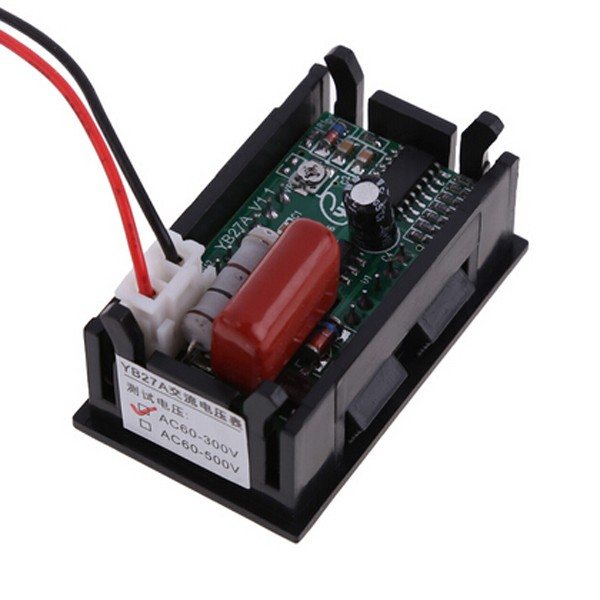 ANENG 1 PC New Mini AC 60-500V 3-Digital LED Voltmeter Panel Display Voltage Meter w/ 2 Wires