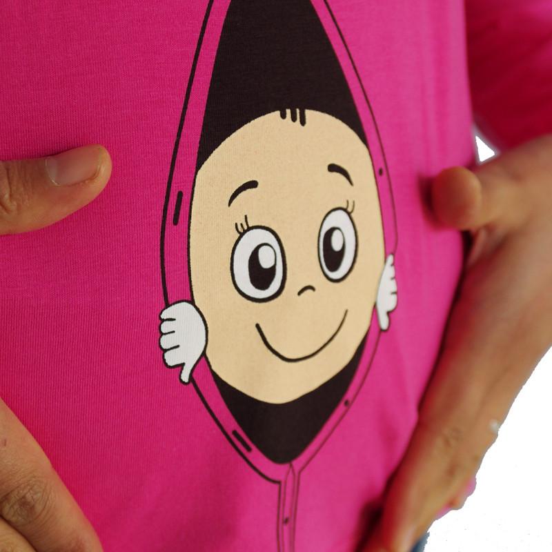 2014 Fshion ארוך שרוול החולצה לידה בגדים מזדמנים קשמיר קפוצ ' ונים בגדים לנשים בהריון