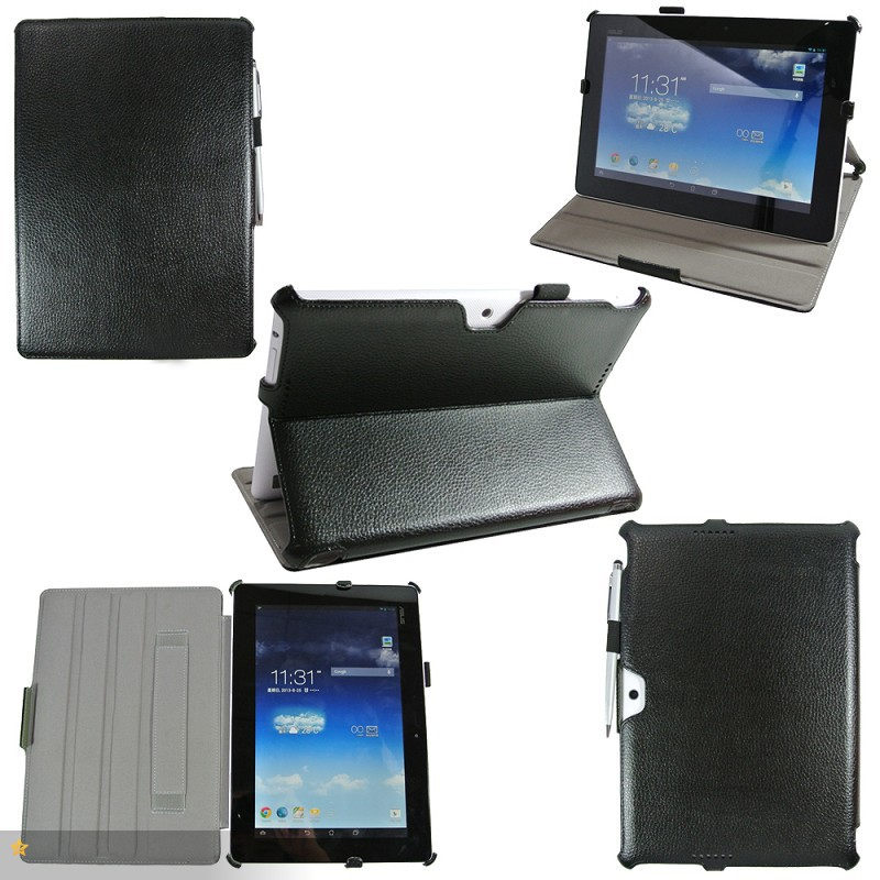DHL Shipping.High Quality ME302 PU Leather Stand Case Cover For Asus Memo pad FHD 10 ME302C hard case ,Gift screen protector+pen<br>