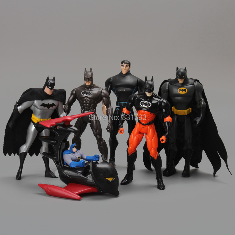 "DC Super Heroes Batman PVC Action Figure Collectible Model Toys Kids Toys Models Gifts 6pcs/set 6"" 14CM Free Shipping(China (Mainland))"