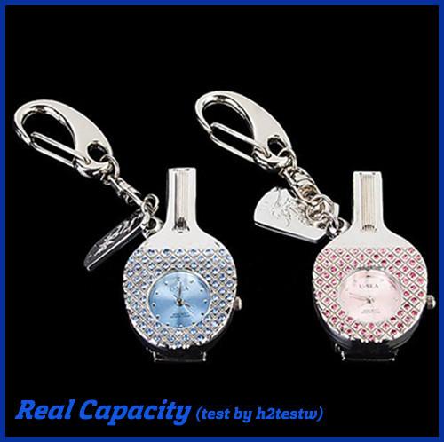 free shipping crystal jewelry table tennis bat usb stick watch usb flash drive memory pen drive keychain disk 4gb 8gb 16gb 32gb(China (Mainland))