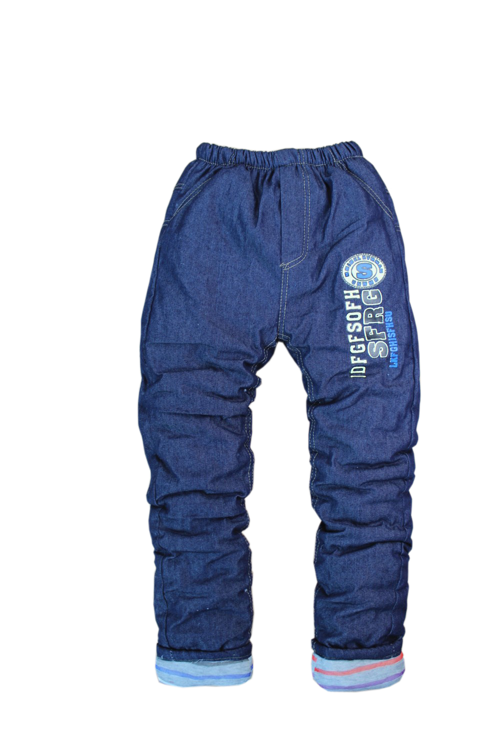 2015 fashion children pants high quality thick winter warm boys jeans kids trousers size 4Y-11Y retail(China (Mainland))