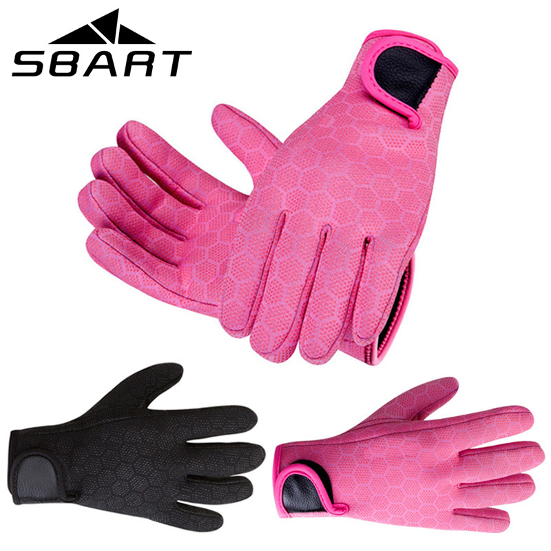 Sbart men women 3mm neoprene thick keep warm wearable for Neoprene fishing gloves