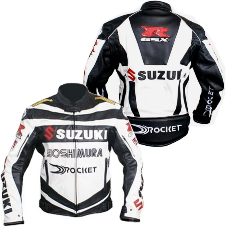 wholesale dropshipping Motorcycle racing suits Jaket Suzuki off-road motorcycle racing suit jacket leather jacket(China (Mainland))