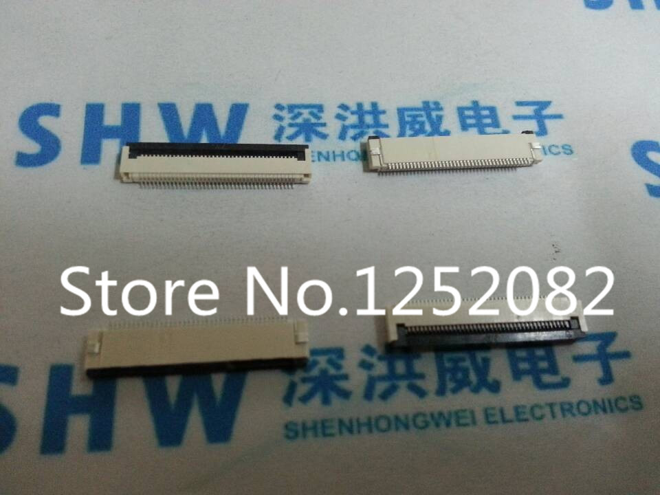 Free Shipping 100PCS/LOT FFC / FPC flat cable connector socket Clamshell Type 40Pins 0.5mm Pitch 2.0mm Height<br><br>Aliexpress
