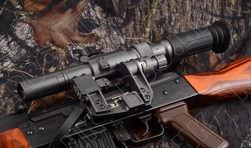 AK 47 SVD 3-9x24 rifle scope side rail mount hunting shooting free shipping M8247(China (Mainland))