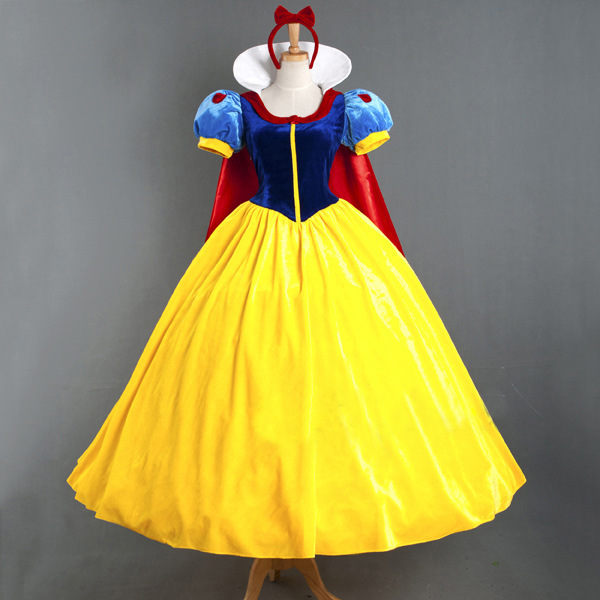 Big Sale 2016 Deluxe Adult Snow White Princess Fairy Tale Costume Halloween Cosplay Party Dress Gowns Petticoat - Max Sexy Club store