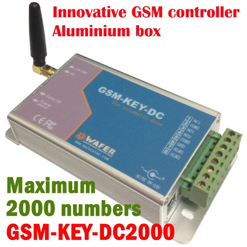 GSM remote control box for automatic door ( Aluminium box )