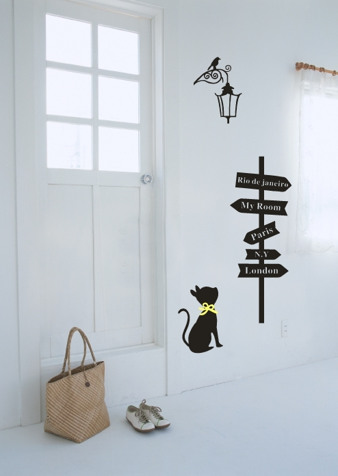 Wall Paper Decoration Design : New design vinyl wall stickers cats and signs posted home