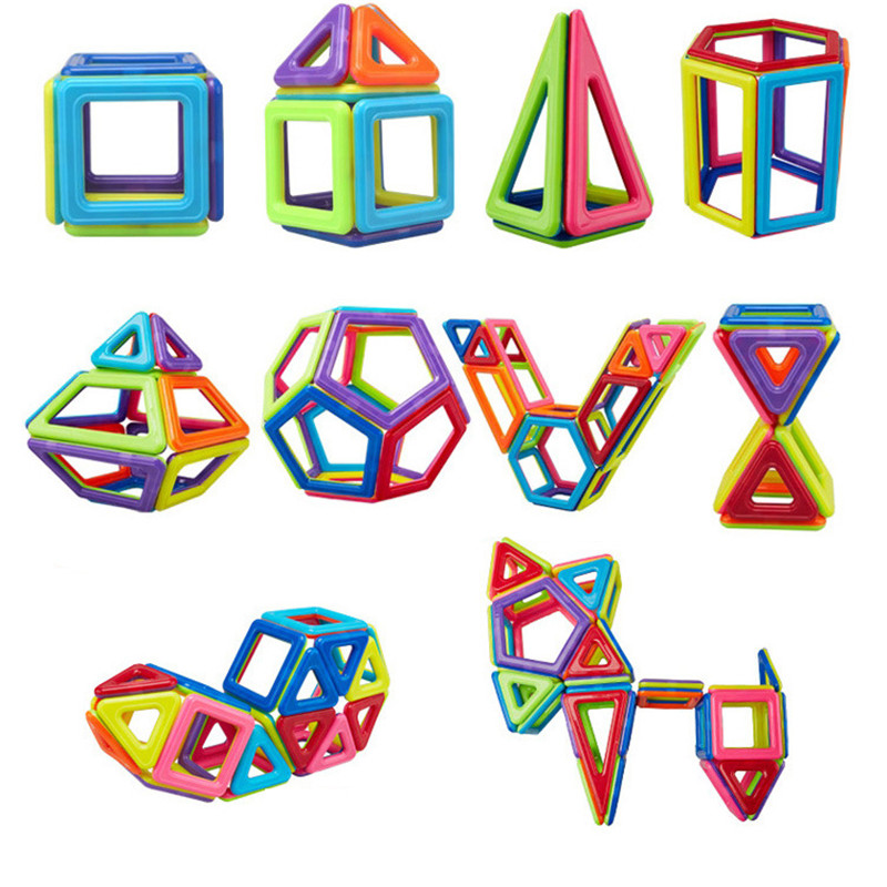 TELECOOL Model Scorching Promoting 128pcs Magnetic Constructing Blocks Toys DIY Academic Encourage youngsters Studying Magnetic Plastic