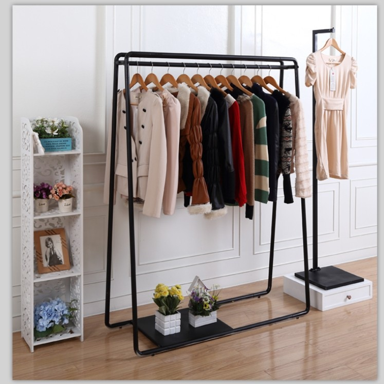 Iron clothing display clothing rack in the island shelf garment rack garment rack side frame wedding combination package shelf(China (Mainland))