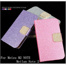 Buy Fashion Newest Shimmering Powder PU Leather Phone Case Cover Meizu M2 NOTE Meilan Note 2 Flip Phone Case Card Slot for $2.60 in AliExpress store