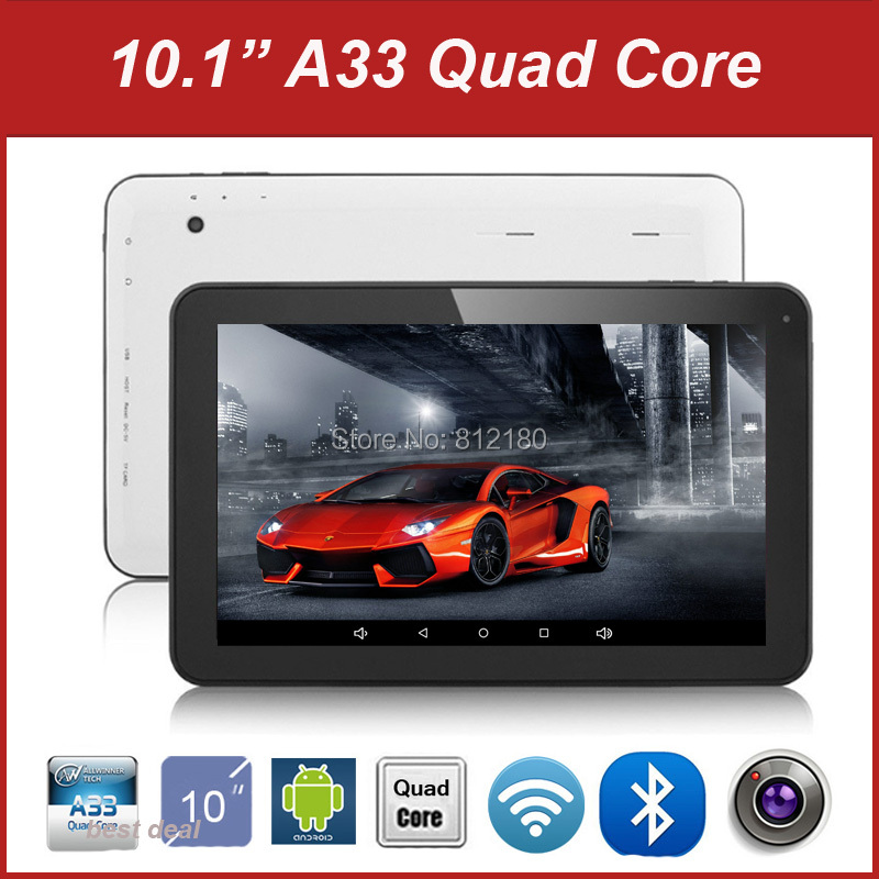 2016 Cheapest Tablet PC Android 4.4 Allwinner A33 Quad Core 10 inch Tablet 1GB RAM 8GB/16GB ROM Buetooth WiFi+Gifts(China (Mainland))