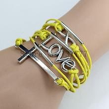 2014 Jewelry Vintage Braided Anchors Rudder Metal Leather Bracelet Multilayer Rope Bracelets Wrap Bracelets Wholesale Bangle