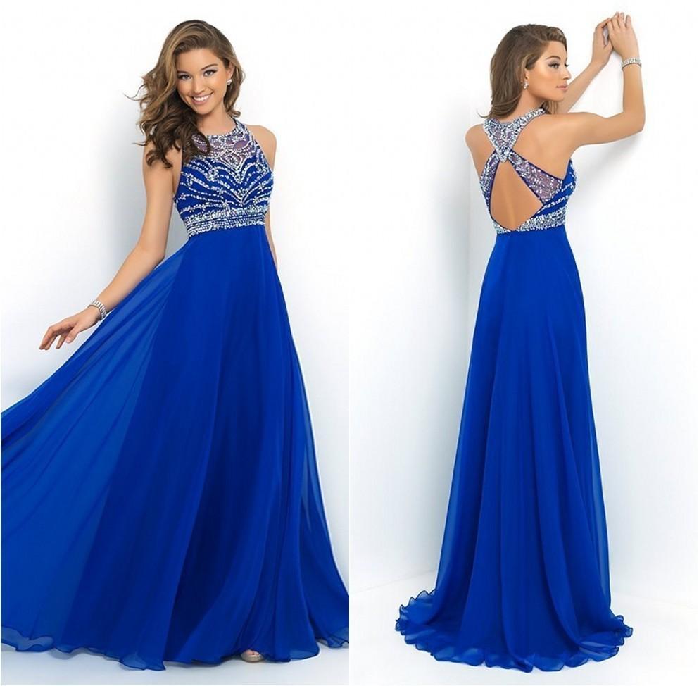 Фото синее вечернее платье в пол
