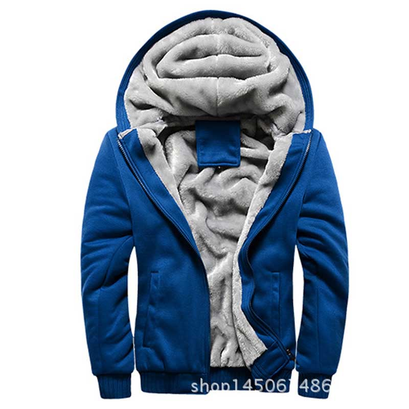 Mens winter thicken hoodies Keep Warm Hoody Long Fur lining Male sportswear outdoors coat 4XL jacket jaqueta masculina - Eternal Fashion HK Trade Limited store