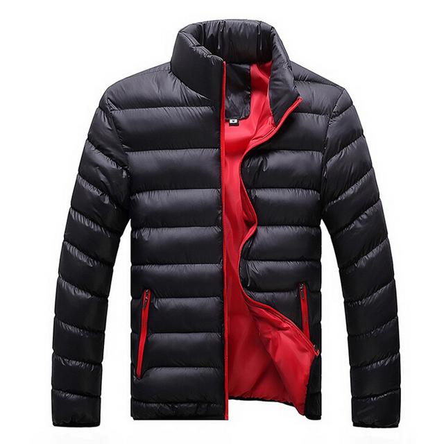 2015 новых осенью и зимняя куртка мужчины ватные пальто мода верхняя одежда свободного ...