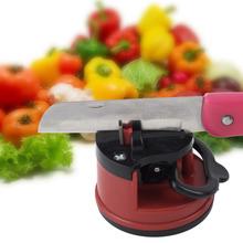 1pcs Knife Sharpener Scissors Grinder Secure Suction Chef Pad Kitchen Sharpening Tool hot (China (Mainland))