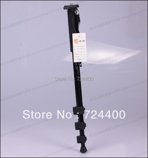 2014 Monopod Tripode [drop Shipping] High Quality KM-3011 Black Professional Monopod for Camera Equipment 30200053