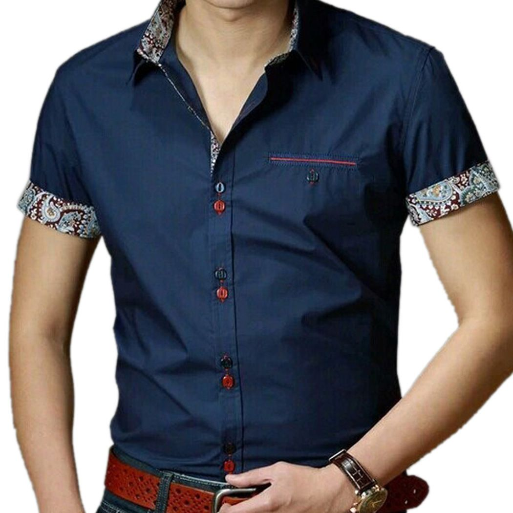 Designer Short Sleeve Button Down Shirts For Men | Artee Shirt