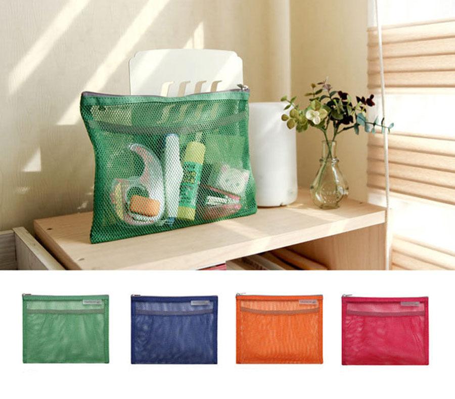 Гаджет  Travel Toiletry Organizer Pouch Bag - Travelus Mesh Cosmetic Make up  Storage Pouch - Slim / Medium V.2 None Камера и Сумки