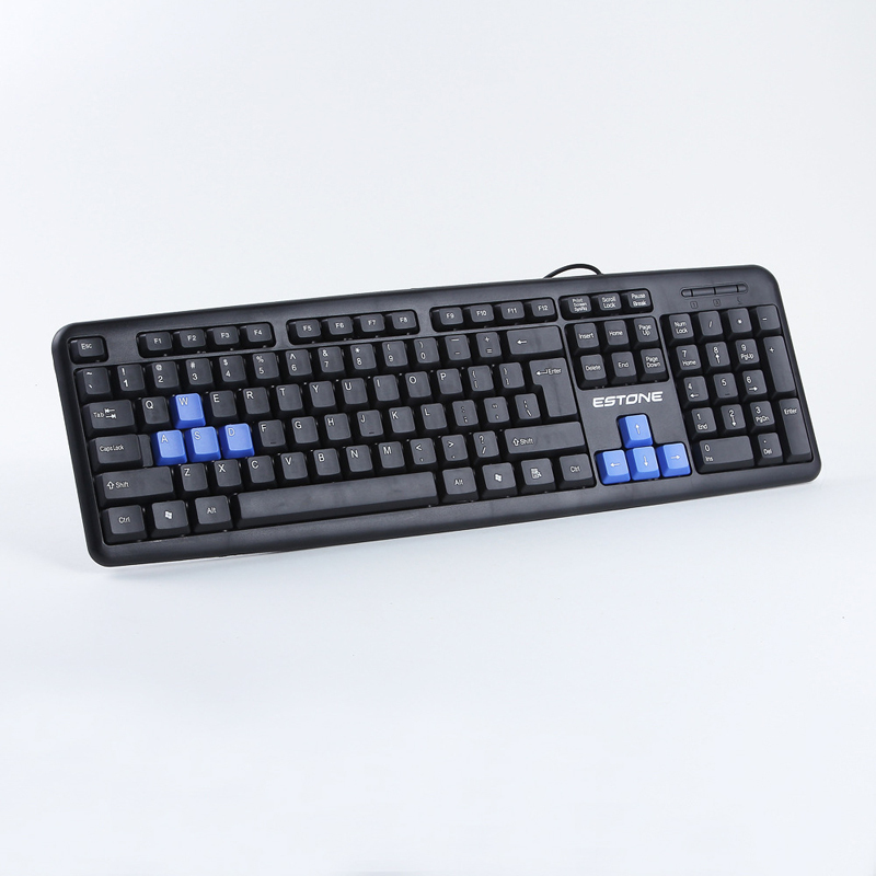 ESTONE K-816 USB Wired Keyboard Professional Gaming Keyboard LOL Dota2 High Quality key boards for PC Computer Peripheral(China (Mainland))