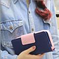 2017 Candy Color Classic Cute Women s Wallet Button Leather Faux Clutch Lady Purse Long Handbag