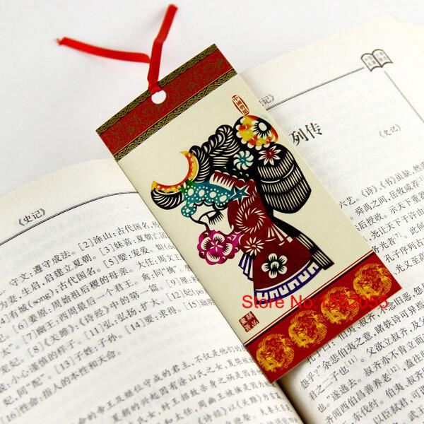 product Free shiping 6pcs Chinese Traditional Drama Character Bookmark Set