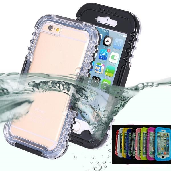 IP-68 Waterproof Heavy Duty Hybrid Swimming Dive Case For Apple iPhone 6 plus Water/Dirt/Shock Proof Phone Bag For iPhone6 4.7(China (Mainland))