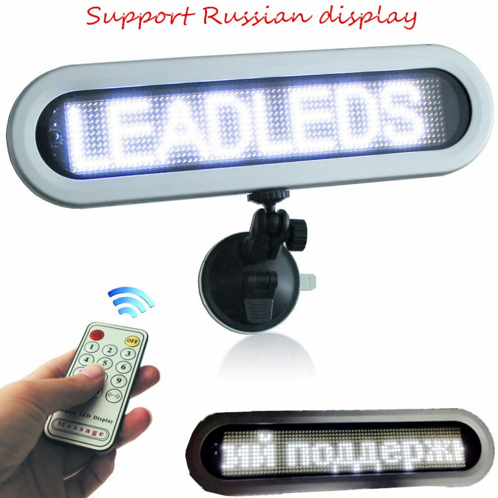 12v led car display ,Remote Control Courtesy led Sign for Car Taxi Bus (White Message) pixel 12x72(China (Mainland))