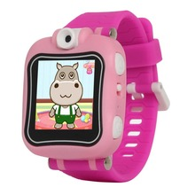Kids girls Smartwatches WristWatch Silicone Band Smart Watch With Camera For Kids pink