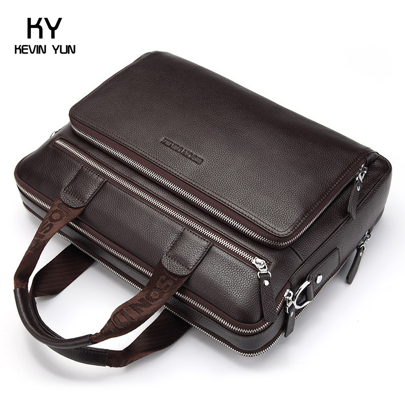 2015 fashion vintage genuine leather bag brand handbag men briefcase laptop bag business male shoulder bags large capacity bolsa<br><br>Aliexpress