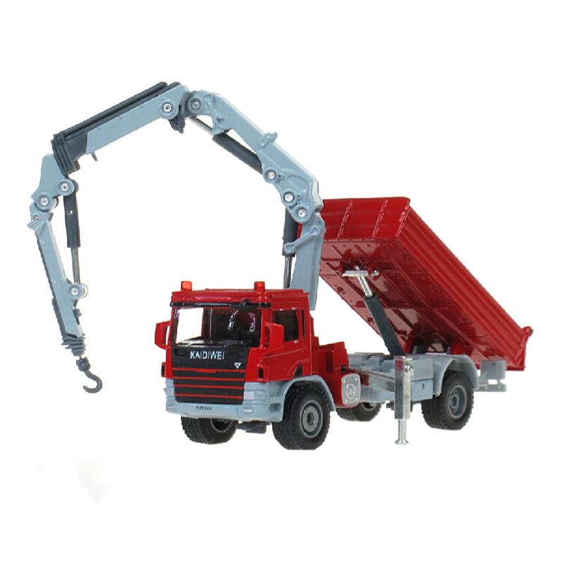 Alloy Diecast loading crane truck model 1:50 Engineering car vehicle Truck Dumper With Crane collection gift toys(China (Mainland))