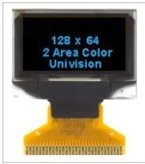 0.96 inch OLED Display LCD module with 128x64 Resolution and blue backlight