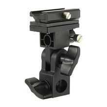 High Quality B Type Universal Mount Flash Hot Shoe Adapter Trigger Umbrella Holder Swivel Light Stand Bracket(China (Mainland))