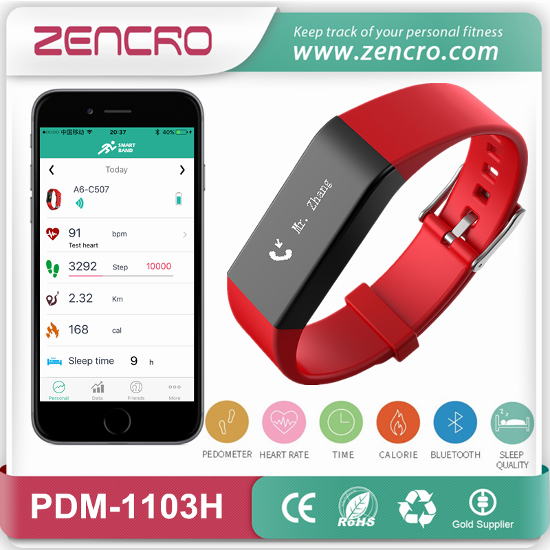Фотография SMS and Caller ID Display Activity Tracker Pulse Band Smart Bracelet Heart Rate Wristband Free Shipping