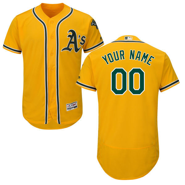 MLB Oakland Athletics Alternate Collection Custom Jersey Cool Base Player Jersey Baseball Jerseys(China (Mainland))