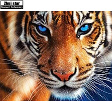 Buy ZOOYA 5d diy diamond embroidery tiger diamond painting Cross Stitch full square drill Rhinestone mosaic home decoration for $4.91 in AliExpress store